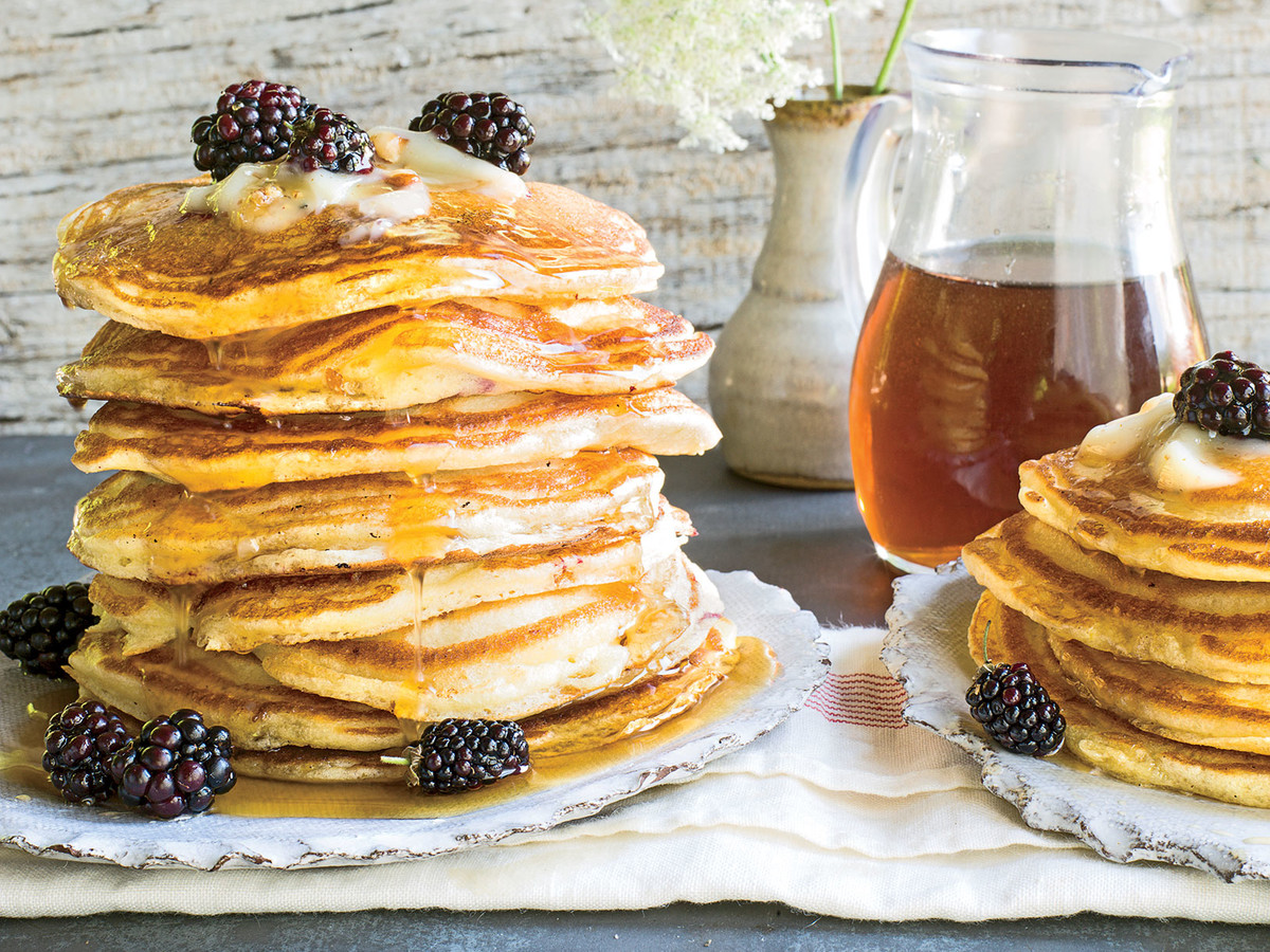 Blackberry-Lemon Griddle Cakes Recipe