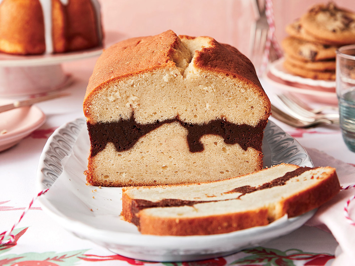 Vanilla Bean-Brownie Ripple Pound Cake