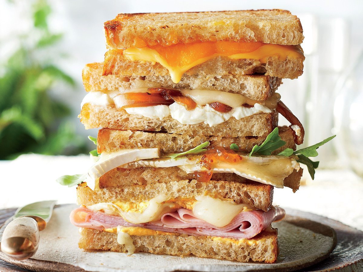 Ham and Dijon Grilled Cheese