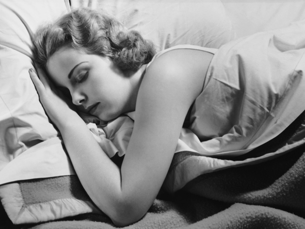 Woman Sleeping in bed
