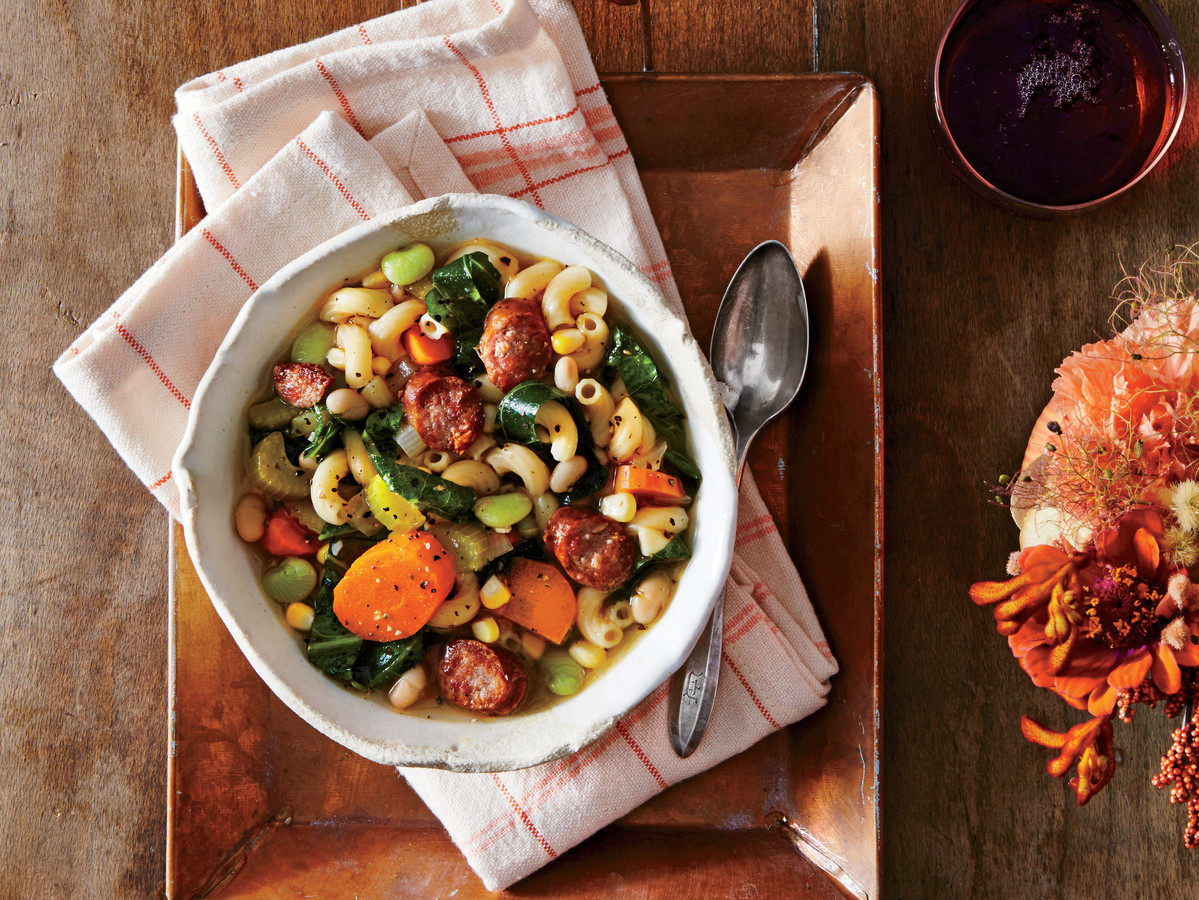 Slow Cooker Sausage Minestrone Recipe Southern Living