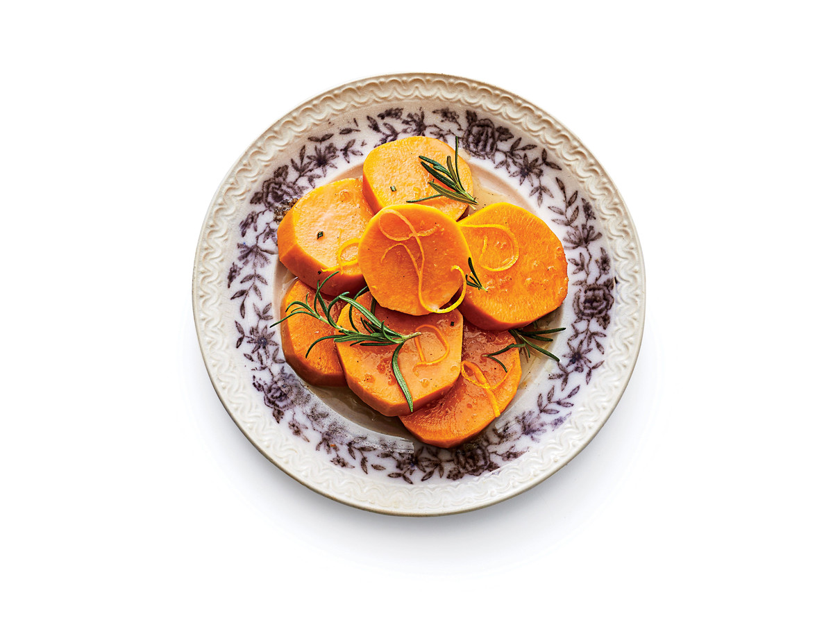 Cand Yams With Rosemary And Orange Zest Recipe