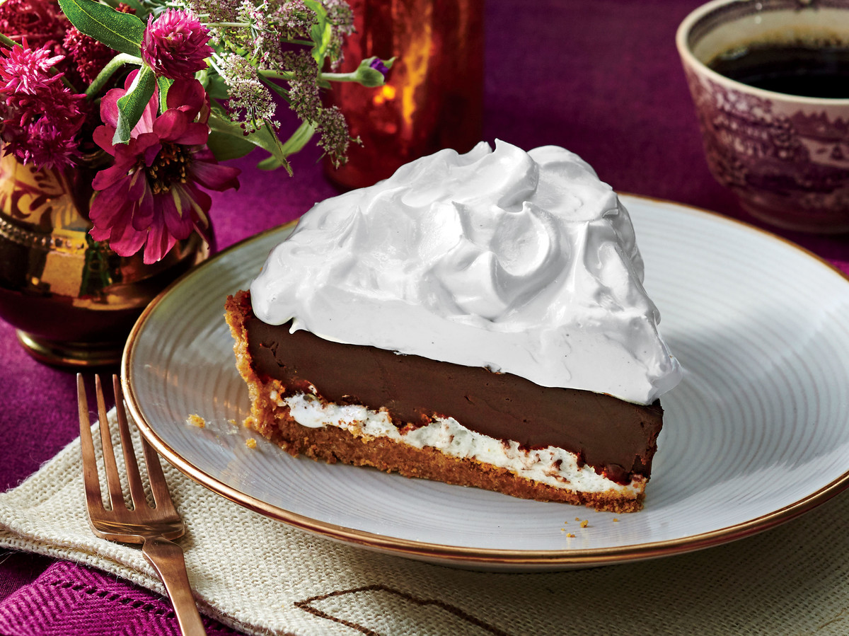 over the moon chocolate pie recipe - southern living