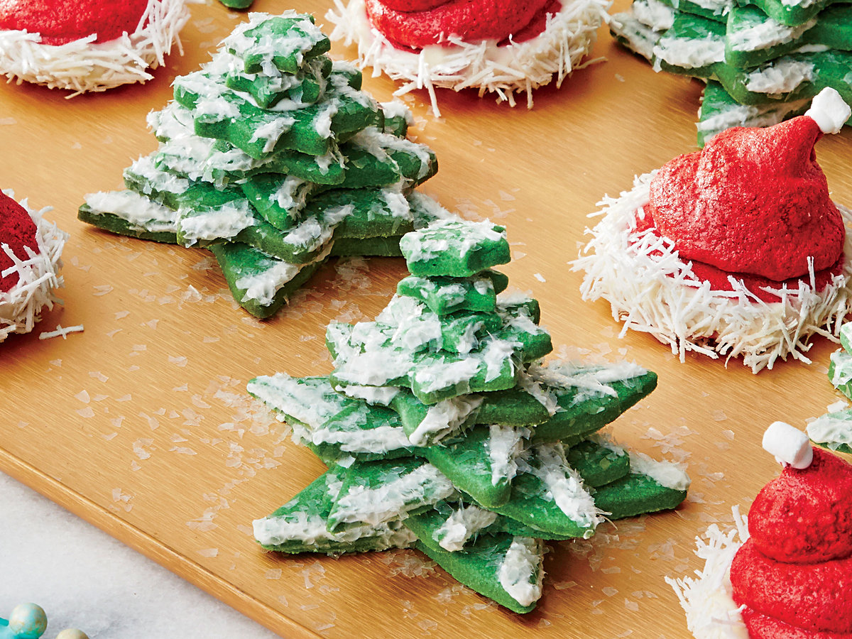 Snowy Tree Cookies Recipe - Southern Living