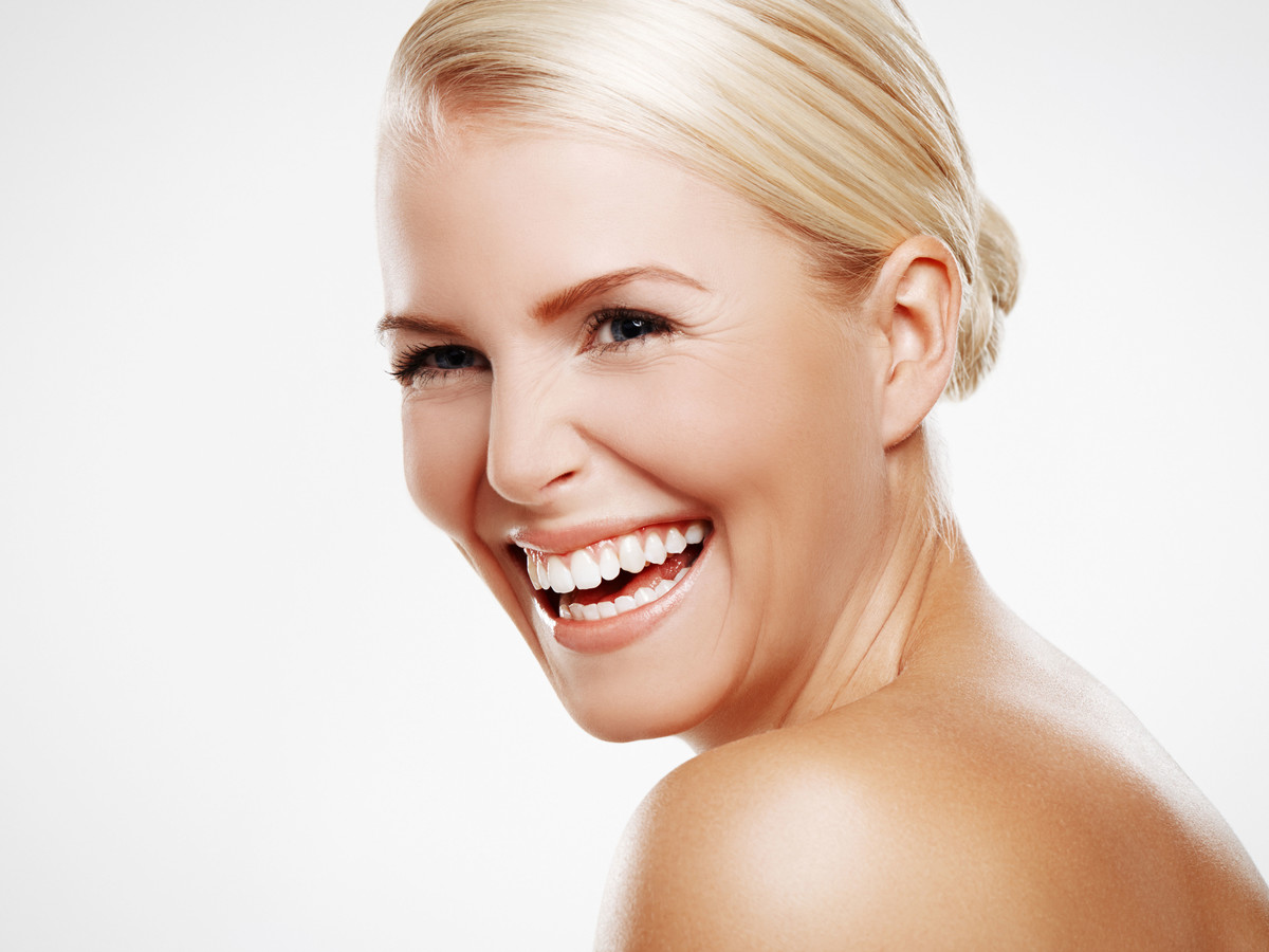 Woman Laughing Beauty Shot
