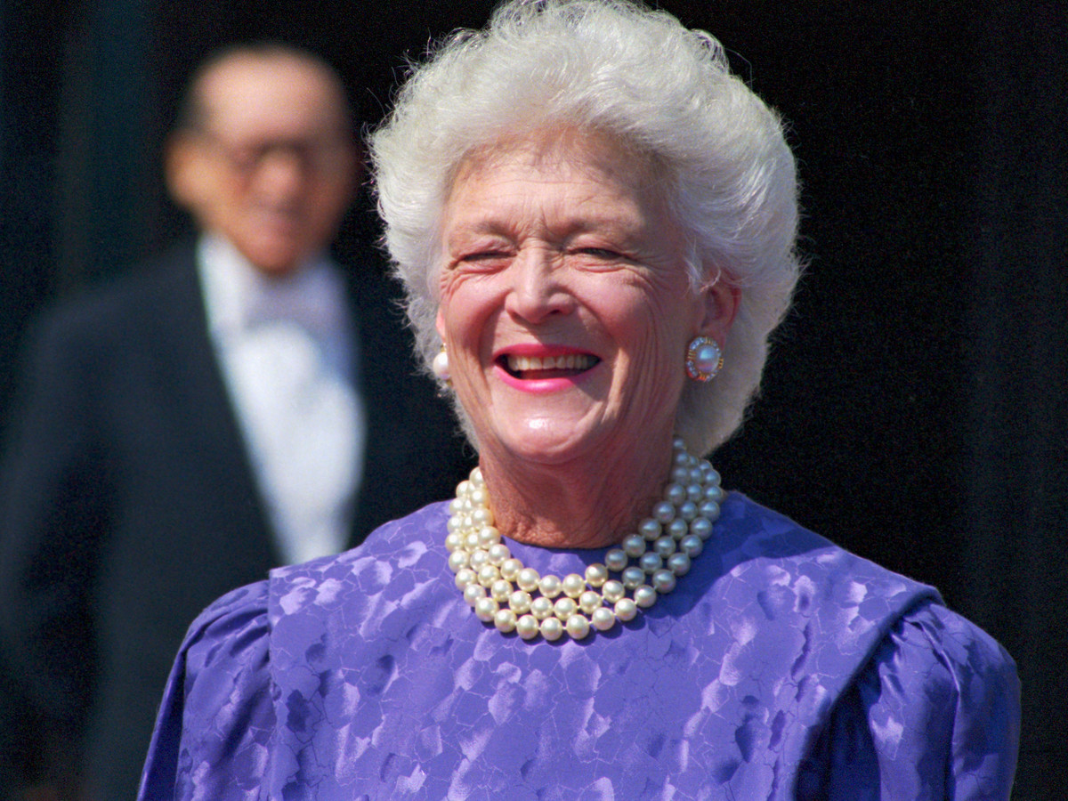 Southern Living Barbara Bush Purple Dress