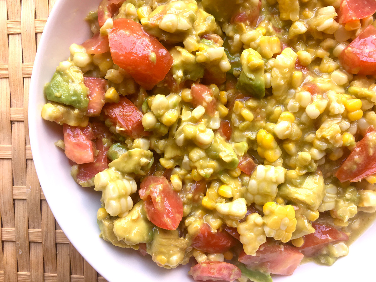 Corn Avocado & Tomato Salad