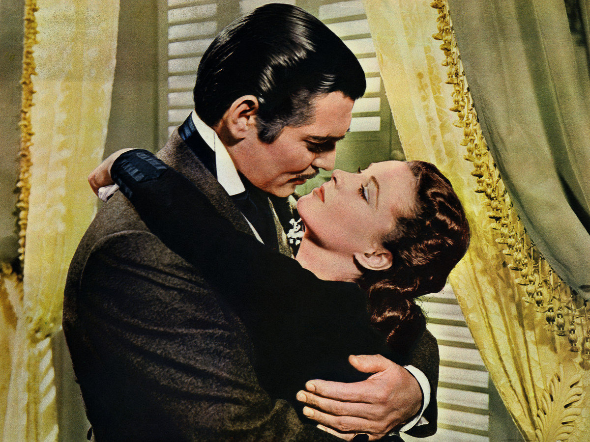Gone With The Wind Scarlett and Rhett Embrace