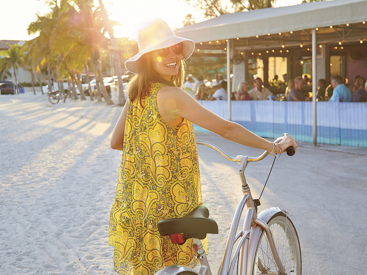 Bike on Higgs Beach Key West, Florida