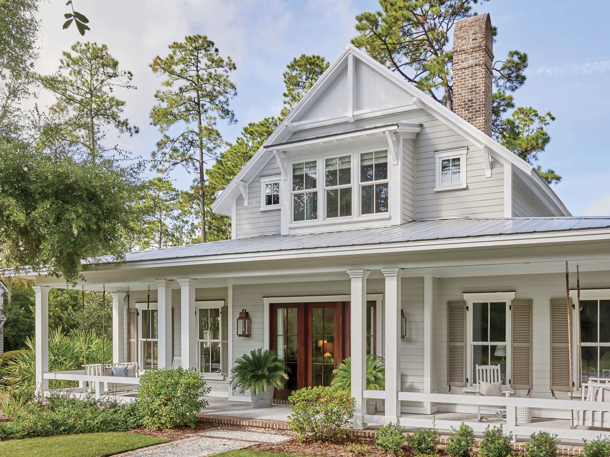 Lowcountry Farmhouse House Plan Front Exterior