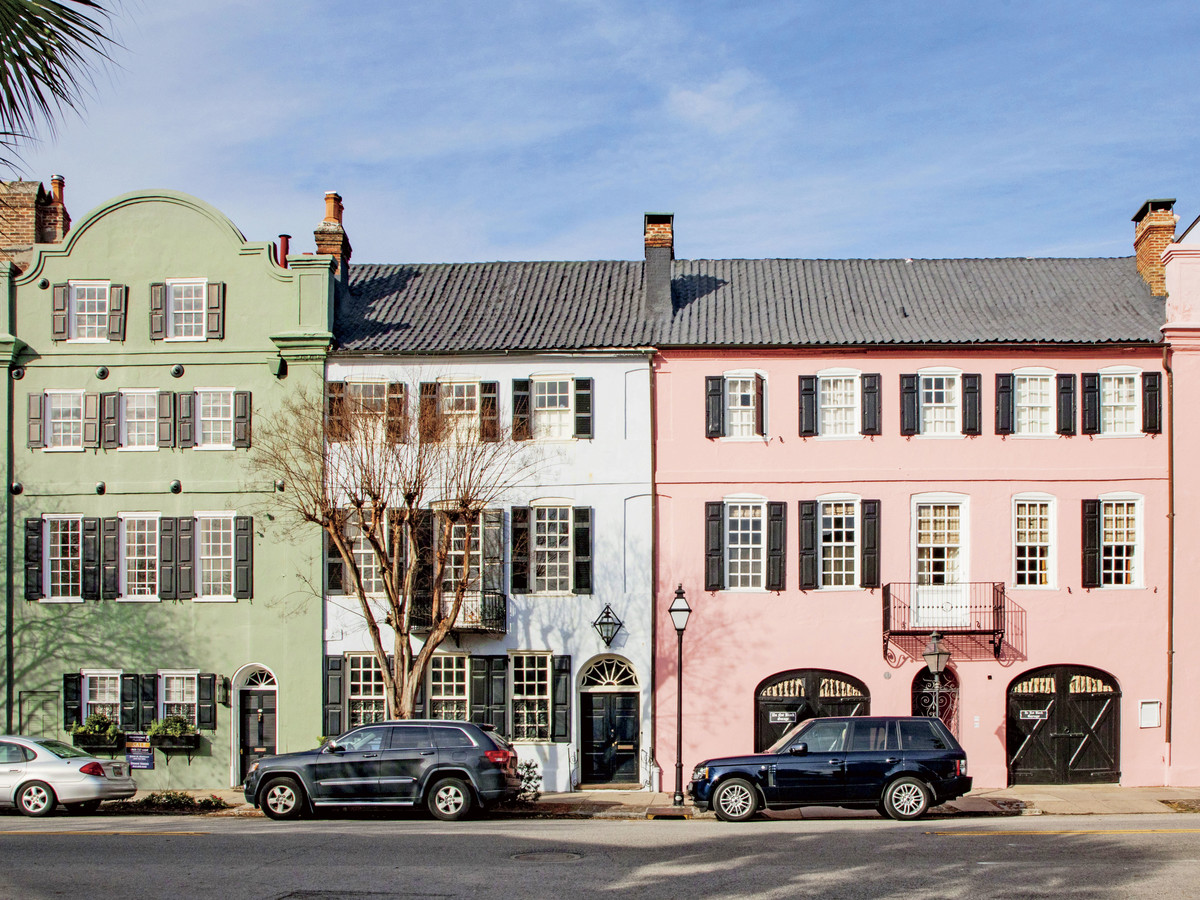 Charleston's Rainbow Row Homes