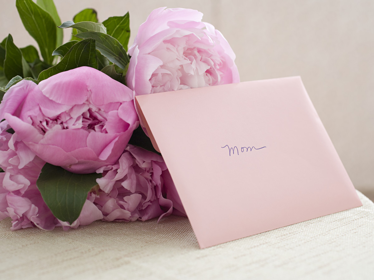 Mother's Day Flowers and Card