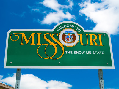 Getty Welcome To Missouri Sign