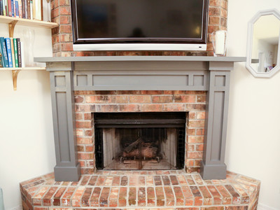 Checking In With Chelsea DIY Fireplace Mantel