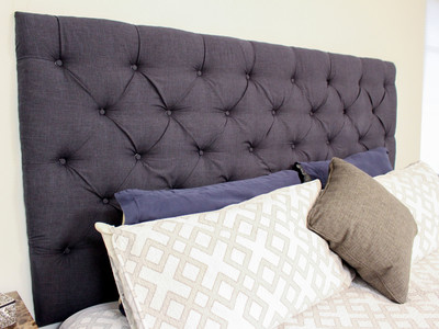 Checking In With Chelsea DIY Tufted Headboard