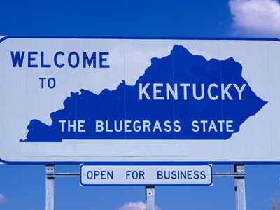 Getty Kentucky Welcome Sign