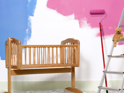 Nursery Blue and Pink Walls
