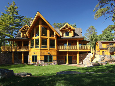 Incredible Log Cabin Exterior