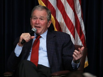 President George W. Bush Discusses His New Book At The Reagan Presidential Library