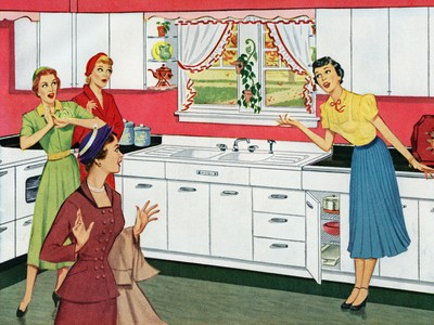 Housewife In New Kitchen