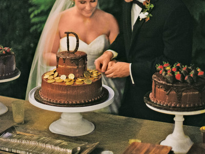 Groom's Cake with Chocolate Coins
