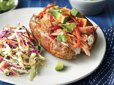 BBQ Pork Loaded Baked Potatoes