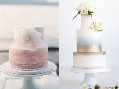 Watercolor Wedding Cake Ideas