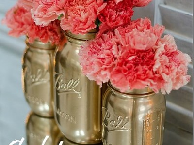 Metallic Jars Turned Vases