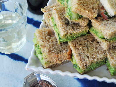 Cucumber Arugula Tea Sandwiches