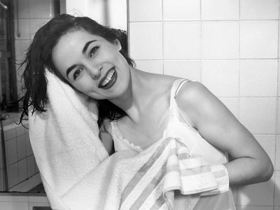 Woman Towel Drying Hair