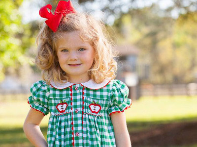 Apple Chest Smocked Dress
