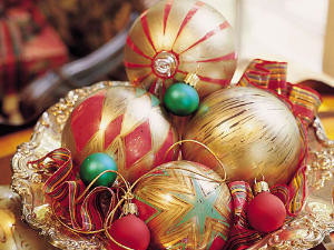 Color Glass Ornaments