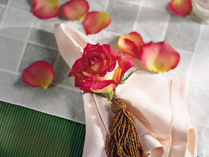 Couples' Party Rose Place Setting