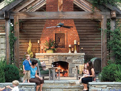 Outdoor Rooms and Outdor Fireplace