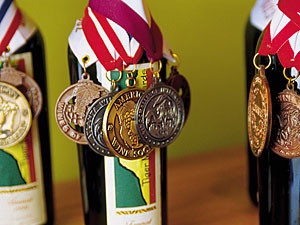 bottles of tiger mountain wines award winners from american wine society
