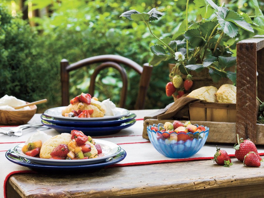 Strawberry-Fruit Toss with Cornmeal Shortcake recipes