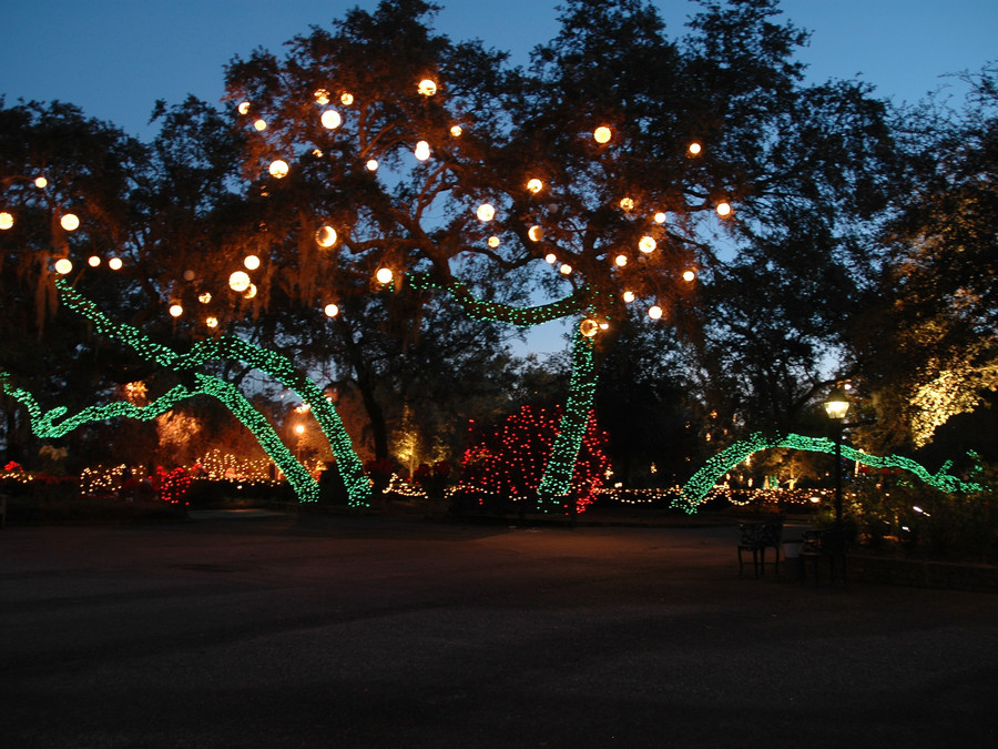 Magic Christmas in Lights at Bellingrath Gardens and Home. Theodore, Alabama
