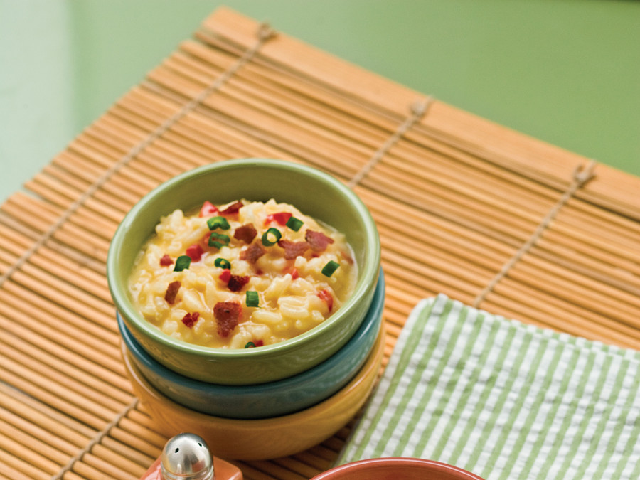 Cheese-and-Bacon Risotto Recipe