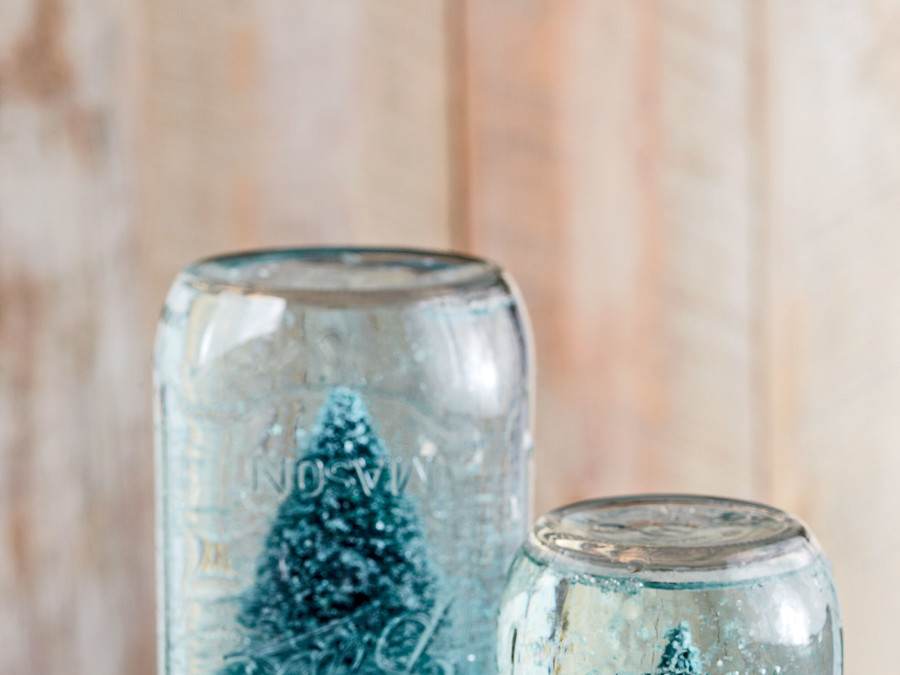 Make a Mason Jar Snow Globe