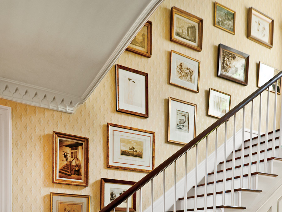 How To Hang Art in a Stairwell