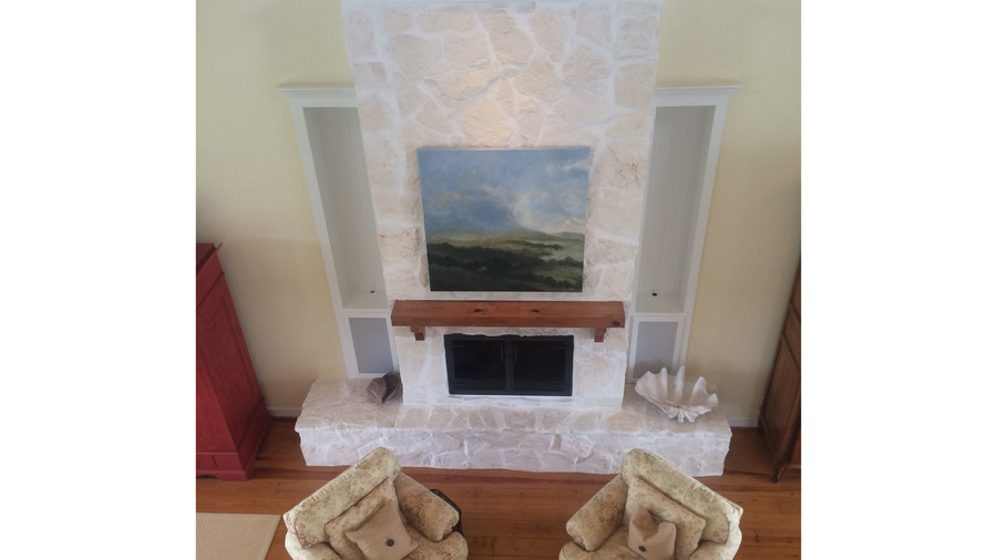 Texas Flanigan Makeover Fireplace Before