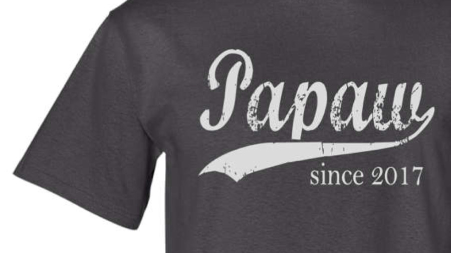 """Papaw Since"" Custom Men's T-shirt"