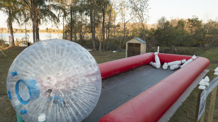 Zorb Ball Bowling