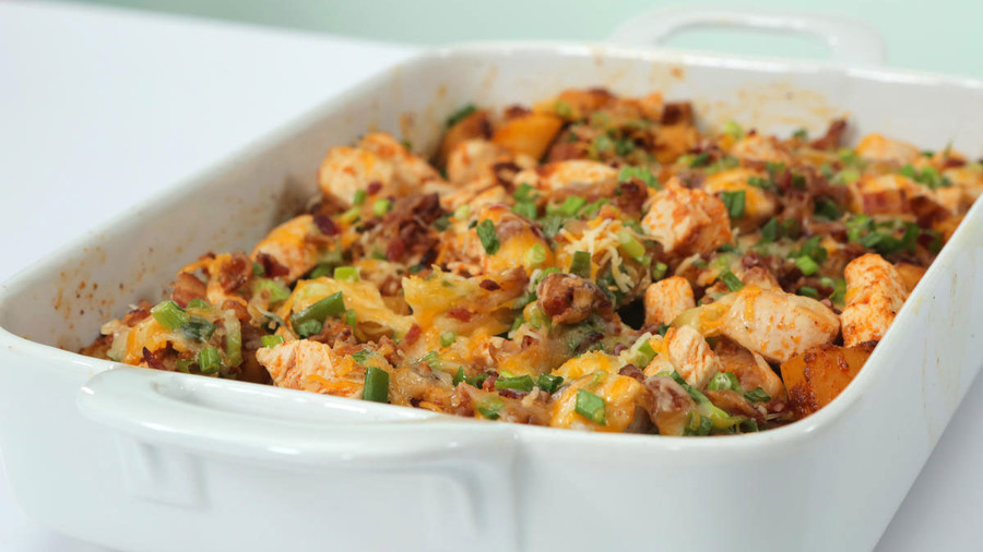 RX_1805_Weeknight Casseroles_Loaded Potato and Buffalo Chicken Casserole