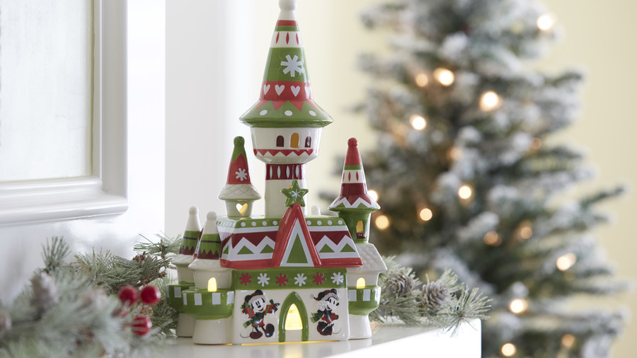 Fantasyland Castle Nordic Winter Light-Up Figurine