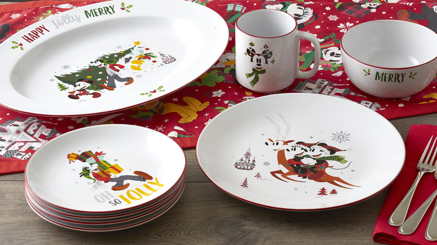 Disney Parks Holiday Dinnerware