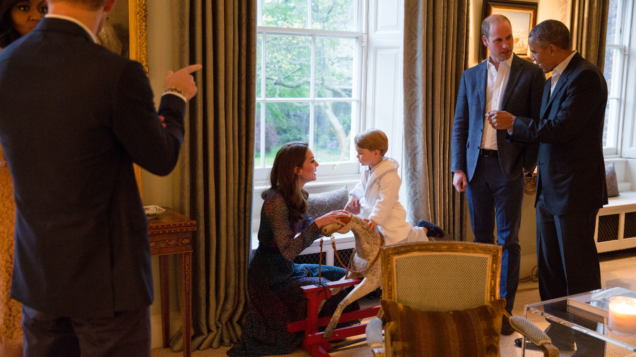 Kate Middleton Mom Moments George Obama Visit