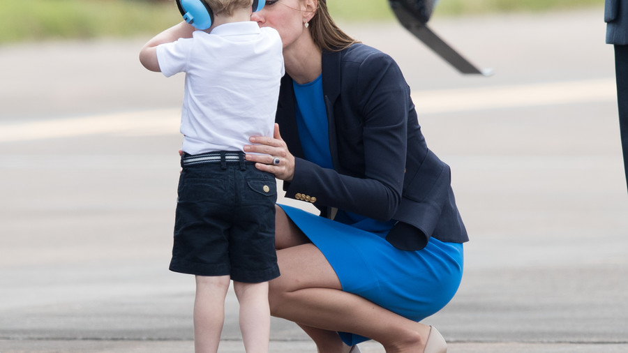 Kate Middleton Mom Moments George Helicopter
