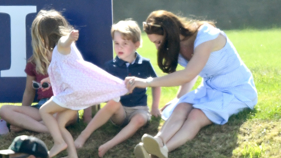 Kate Middleton Mom Moments Charlotte Polo Match