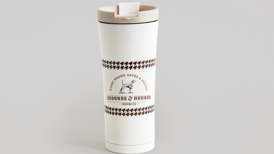 Grounds & Hounds Stainless Steel Travel Tumbler, $26.99
